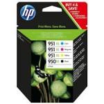 HP oryginalny tusz 950XL/951XL CMYK C2P43AE, wydajność 3x1500+2300s