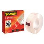 Taśma biurowa SCOTCH® Crystal Clear (600), transparentna, 19mm, 33m, w pudełku