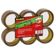 Taśma pakowa SCOTCH® (S5066F6), akrylowa, 50mm, 66m, brązowa