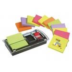 Zestaw promocyjny POST-IT® Z-Notes (DS100-VP), podajnik Combi-Millenium+12 bloczków+zakładka