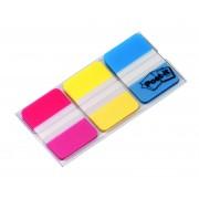 Zakładki indeksujące POST-IT® do archiwizacji (686-RYB), PP, silne, 38x25mm, 3x22 kart., mix kolorów neonowy