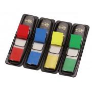 Zakładki indeksujące POST-IT® (683-4), PP, 12x43mm, 4x35 kart., mix kolorów